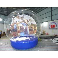 China Durable Transparent Inflatable Snow Globe With Artificial Snow For Yard Decorations on sale