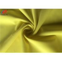 China Yellow Colour Semi-dull Polyester Spandex Knitted Fabric Lycra Fabric For Apparel on sale