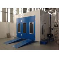 Cheap Water Curtain Paint Spray Booth With Drying Oven Diesel Burner Heating Turbo Fan for sale