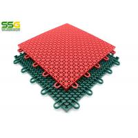 Suspended Outdoor Interlocking Rubber Floor Tiles , Basketball Plastic Sport Floor Tiles