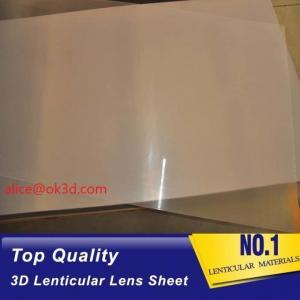 Best UV flatbed print material 0.18mm 200 Lpi, 51x71cm 3D Film Lenticular Lens Sheet for UV offset printer annd injekt prin wholesale