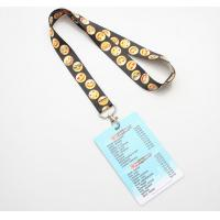 China Screen Printing Polyester ID Card Holder Lanyard Vivid 3D Effect Free Samples on sale