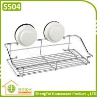China Bathroom Wall Mounted Suction Iron Wire Storage Shelf on sale