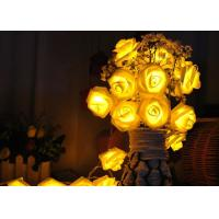 Best Red / Warm White Battery Operated LED String Lights , Rose Flower String Lights wholesale