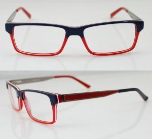 Cheap Fashion Women Acetate Optical Frames, Red & Black Handmade Acetate Glasses for sale