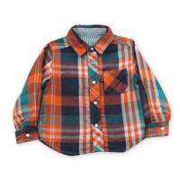 Best 100% cotton Yarn Dyed flannel kids long sleeve plaid shirts, designer childrens clothes wholesale