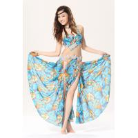 China One piece sexy print egyptian belly dance costumes / outfits with diamonds on sale