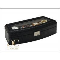 China DESIGN FOR EUROPE Carbon Leather Watch Storage Case For 4 Large Watches wholesale