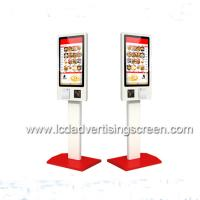China Android Self Service Kiosk 350cd/M2 Brightness With Aluminum Floor Standing Bracket on sale