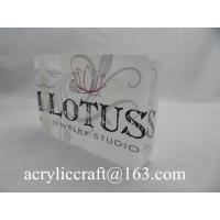 Best Custom made cheap desktop acrylic sign block laser cut acrylic plexiglass logo block wholesale