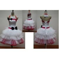 Best White and Pink Fashion Halter Ball Gown Mini Length Masquerade Prom Dresses wholesale