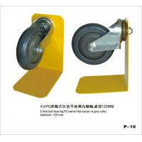 Best 4 Inch Black PU Wheels , Shopping Trolley Castor Wheels With Ball Bearing wholesale