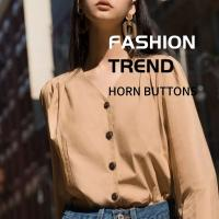 Best Professional Horn Buttons Custom Vintage Natural 4 Holes High - Grade Shirt & Trench Coat wholesale