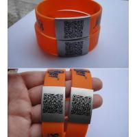 China QR Code Silicone Bracelet,Personalized Silicone Bracelets,Silicone Balance Bracelet on sale