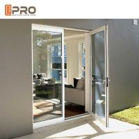 Best Custom Residential Aluminium Hinged Doors , Single Casement Bulletproof Glass Security Door wholesale