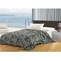 Best Printed Zebra Cotton Flannel Sheet Blanket , Wrinkle Resistant Flannel Baby Blanket wholesale