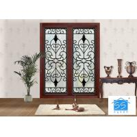 Best Mosaic Metal Front Doors With Glass Custom Spray Coating Hot Dip Galvanize wholesale