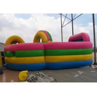 Inflatable obstacle course combo with bouncer , Colorful Kids Fun city