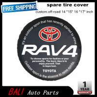 China Free shipping Factory direct sale PVC car spare wheel cover spare tire cover 16 inch for SUV TOYOTA RAV4 RF-TA-43 on sale