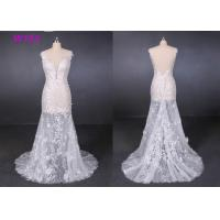 Best Perspective Lace Female Wedding Dress Slim Sexy Small Tail Brides Wears wholesale