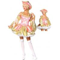 Best Wholesale Old Fashion Costumes Golden Pink Marie Antoinette for Halloween by Satin and Brocade XXS to XXXL Available wholesale