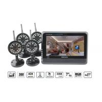 Best High Definition 7 Inch Wireless DVR Security System 4 Channels With Waterproof Camera wholesale