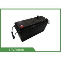 Best 12V 200Ah Lithium Iron Phosphate Battery With RS485 communication , Camper Trailer Battery wholesale