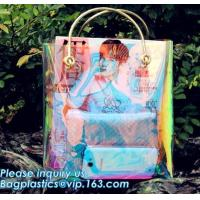 China Neon Laser Shopping Bag Tote Bag, PVC bag/handbag for shopping/traveling bag, fashion purses and ladies handbag, PURSE on sale