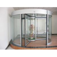 Best Commercial Three wing automatic revolving door 150KG with central showcase wholesale