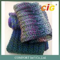 Buy cheap Colorful Acrylic / Cotton / Wool Yarn Knitted For Woman Scarf In Spring / Winter product