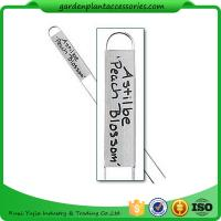 Best Durable Silver Metal Garden Plant Markers With Vertical Name Plates wholesale