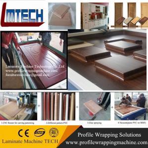 China exterior wooden doors vacuum membrane press machine on sale
