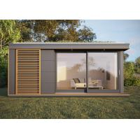 China Yard Prefab Garden Studio Flat House Holiday Chalet With Wooden Cladding on sale