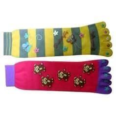Best Cotton perfect customized knitting pattern five fingers socks, five toe socks for children wholesale