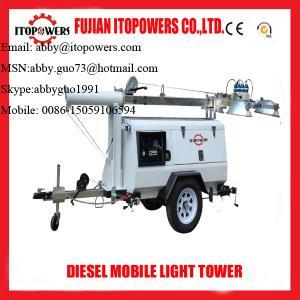 Best Emergency mobile diesel light tower on sale wholesale