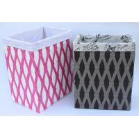 China Rope woven hamper, paper storage basket, laundry basket with facric lining, on sale