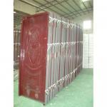 Best Interior PVC steel door,residential PVC coated door, wooden edge PVC coated panel steel door wholesale
