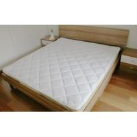 China 100% microfiber polyester white mattress protector with 4 corn strip with binding on sale