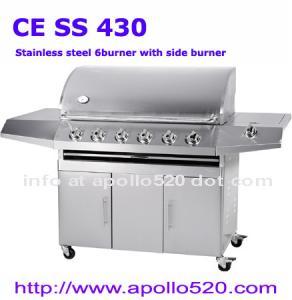 Best 6 Burners BBQ Grill Cart wholesale