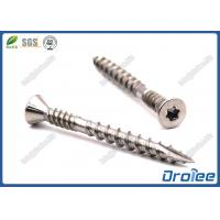Best 316 Stainless Double Thread Composite Deck Screw, Torx Trim Head with 4 Nibs wholesale