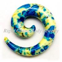 Best Customized Spiral Ear Tapers , Uv Acrylic Body Jewellery wholesale