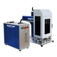 Best Cnc Portable Laser Marking Machine / Silver Gold Laser Cutting Machine Power 50W With Rotary wholesale