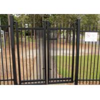 Best 2.1mx2.4m Garrison Fencing Panels rail 50mm x 50mm  1.6mm upright 25mm x 25mm wall thick 1.2 with pedestrian gates wholesale