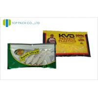 China 12C Customized Lure Packaging With Plastic Laminated Zipper Green / Yellow wholesale