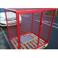 Best Eco Friendly Propane Tank Storage Cage , Gas Tank Cage With Galvanized Material wholesale