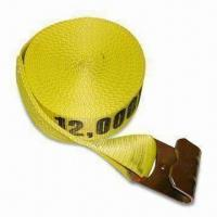 Best Tie-down Strap and Cargo Net with Webbing Breaking Strength of 18,000lbs, Available in Yellow wholesale
