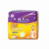 Best Elastic Baby Diaper with Super Absorbency, Breathable Outer Layer and Leakage Protection Wing wholesale