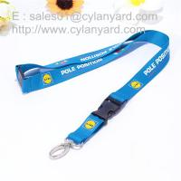 China Logo imprinted polyester lanyard with metal clip and plastic buckle release, on sale