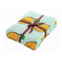China Pure Cotton Lemon Pattern Custom Baby Blankets For Sleeping And Outdoor on sale