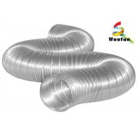 Best Compressed Semi Rigid Aluminum Duct for Industrial HVAC Systems , 150mm Aluminium Flexible Ducting wholesale
